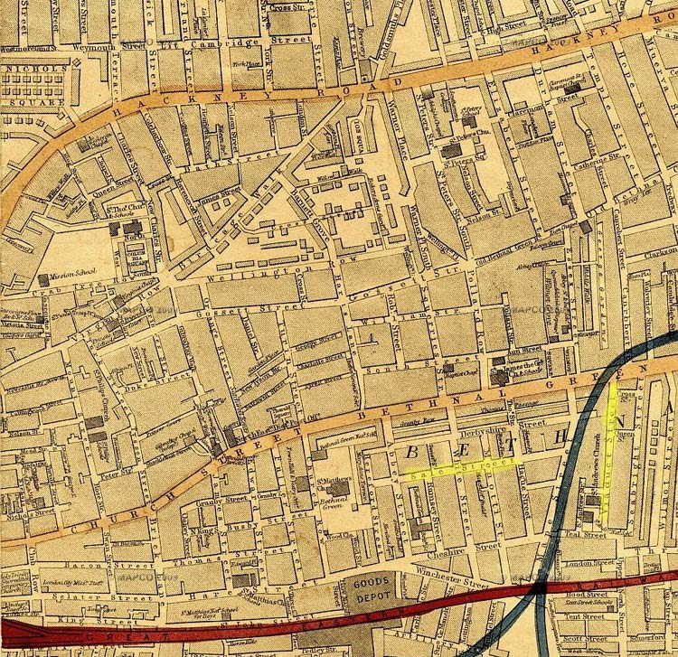 Bethnal Green Map Bethnal Green 1868 maps Bethnal Green Map